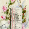 Calendar pictat de Regina Elisabeta a României, 1899