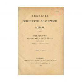 Analele Societății Academice Romane, 1879