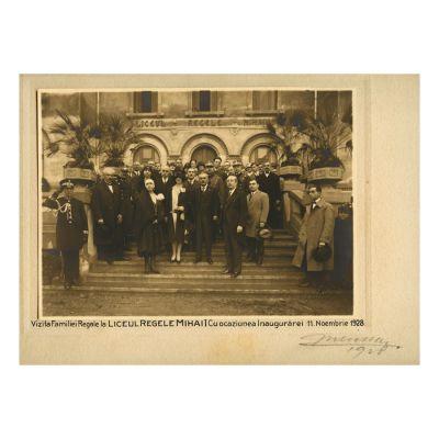 Vizita Familiei Regale la Liceul Regele Mihai I, 1 Noiembrie 1928
