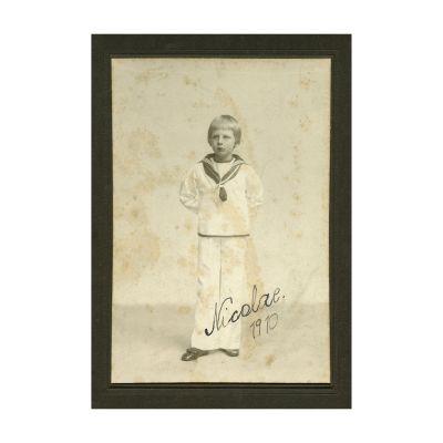 Prințul Nicolae, fotografie cu semnătură olografă, atelier Mandy